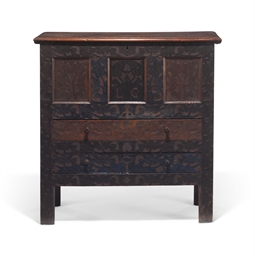 A Carved And Painted Oak Quot Hadley Quot Chest With Two Drawers