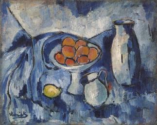 Maurice de Vlaminck (1876-1958) , Nature morte bleue