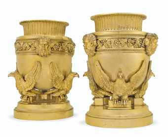 A PAIR OF REGENCY ORMOLU BOTTL