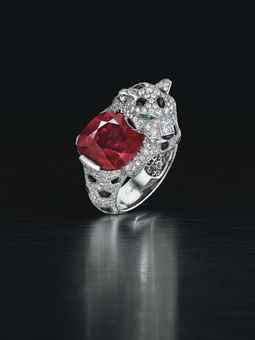 A MAGNIFICENT RUBY, DIAMOND AN