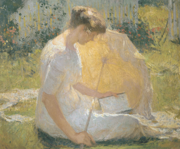Frank Weston Benson (1862-1951),The Reader,oil on canvas, Painted in 1906. Estimate: $2,500,000 – 3,500,000