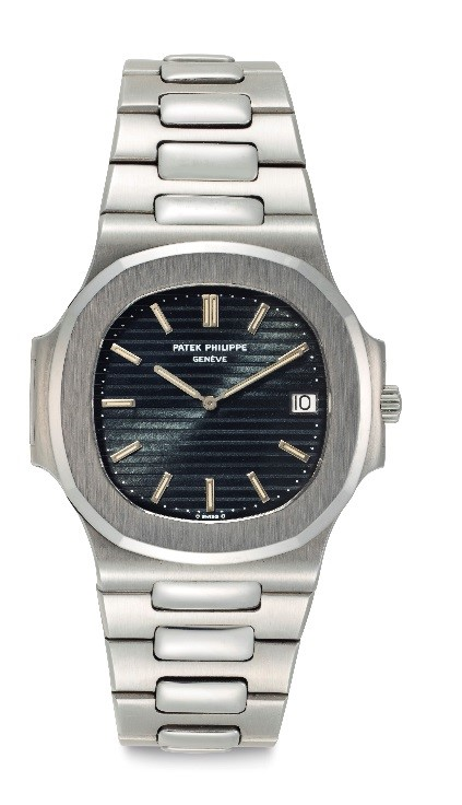 Patek Philippe. An Fine Stainless Steel Automatic Wristwatch with Date and Bracelet, Manufactured in 1977. Estimate: $45,000 - $65,000