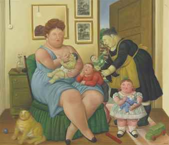 Property from the Collection of Ruth and Jerome Siegel, Fernando Botero (b. 1932), A Family, Painted in 1997.Price Realized: $1,267,500