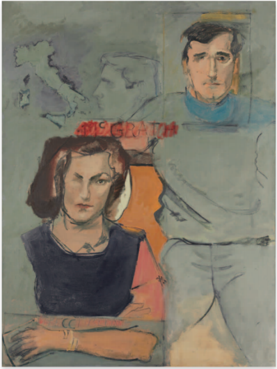 Larry Rivers, Formal Marriage Portrait of Earl and Camilla McGrath, 1965. Estimate: $15,000-20,000.