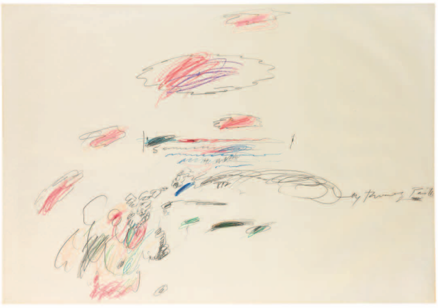 Cy Twombly,Untitled,1963. Estimate: $250,000-350,000.