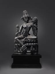A Large and Important Black Stone Figure of Lokanatha Avalokiteshvara,Northeastern India, Pala Period, 12th century.Price Realized: $24,663,500