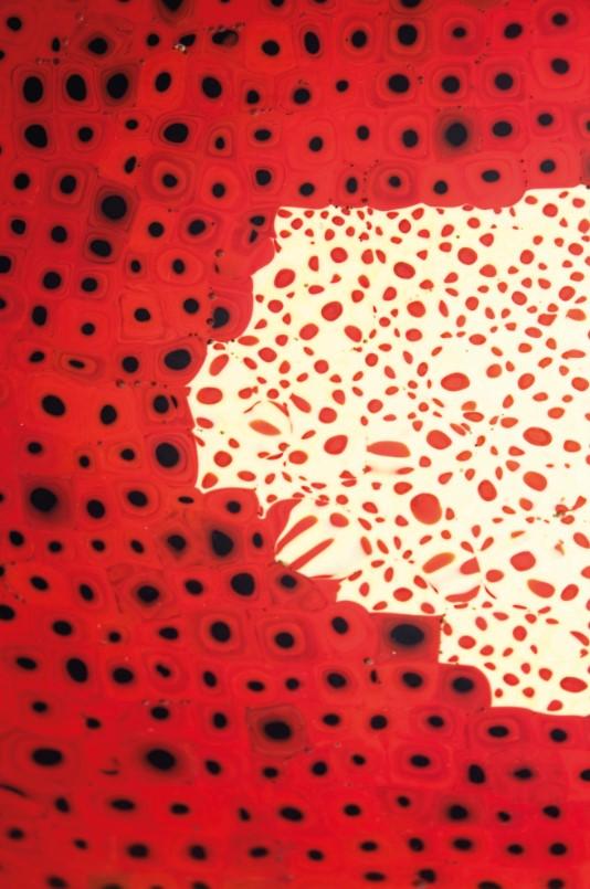 Detail: CARLO SCARPA (1906-1978)AN IMPORTANT 'MURRINE OPACHE' DISH, CIRCA 1940Estimate: $100,000-150,000