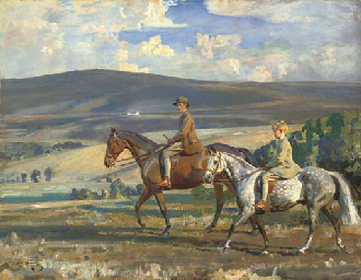 SIR ALFRED JAMES MUNNINGS, P.R.A., R.W.S. (1878-1959) <BR>