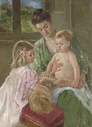 MARY CASSATT (1845-1926) <BR>