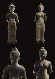 A HIGHLY IMPORTANT AND LARGE SANDSTONE FIGURE OF UMA <BR>