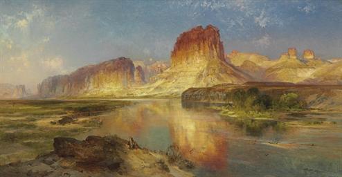 THOMAS MORAN (1827-1926) <BR>