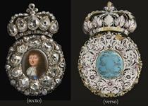 IMPORTANTE BOITE A PORTRAIT DE LOUIS XIV <BR>