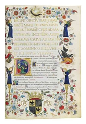 THE GREAT HOURS OF GALEAZZO MARIA SFORZA, DUKE OF MILAN, USE