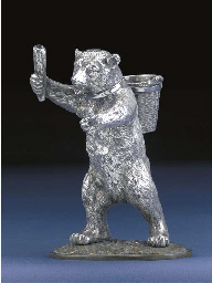 A VICTORIAN SILVER NOVELTY SMOKER'S COMPANION BY JAMES BARCL