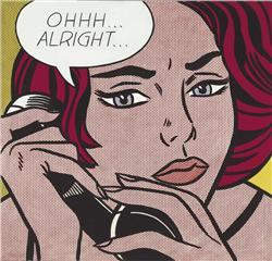 Roy Lichtenstein (1923-1997), Ohhh...Alright...., oil and ma