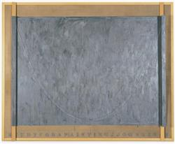 Jasper Johns Study for a Painting encaustic on linen with wo