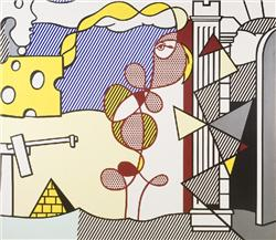 Roy Lichtenstein Figures in a Landscape oil and magna on can