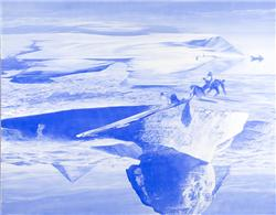 Mark Tansey Push/Pull oil on canvas 84 x 109 in. Painted i