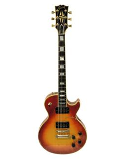 Gibson Les Paul guitar with sunburst finish owned and played