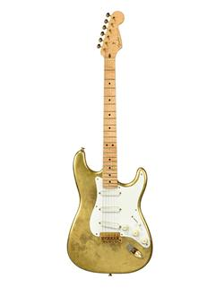 Two Fender Stratocaster guitars, formally from the collectio