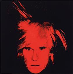 Andy Warhol Self-Portrait, 1986  Acrylic and silkscreen ink