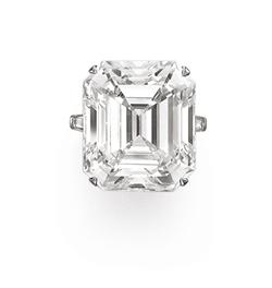 A Rectangular-Cut D-Color Diamond Ring of 50.01 carats, by G