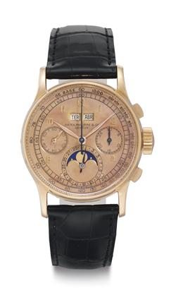 Patek Philippe. An Extremely Fine and Rare 18k Pink Gold Per