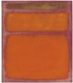 Mark Rothko, Orange, Red, Yellow, oil on canvas, painted in