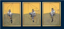 Francis Bacon (1909-1992) Three Studies of Lucian Freud oil