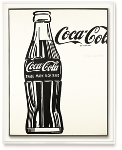 Andy Warhol (1928-1987) Coca-Cola <3>   casein on cotton 69