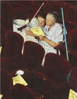 Norman Rockwell Charwomen oil on canvas; painted in 1946  Ch