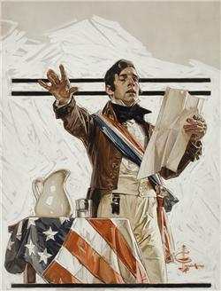 """Joseph Christian Leyendecker Independence Day  (""""When, in th"""