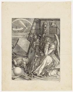 Albrecht Dürer, Melencolia I, engraving, 1514. Estimate: $40