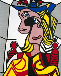 Roy Lichtenstein (1923-1997) Woman with Flowered Hat Magna o