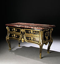 A LOUIS XIV ORMOLU-MOUNTED BOULLE MARQUETRY COMMODE