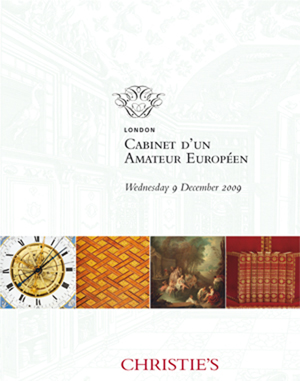 Cabinet d'un Amateur Européen auction at Christies