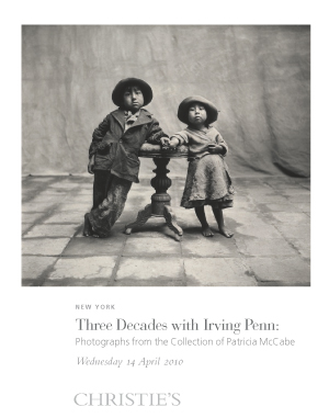 Three Decades with Irving Penn auction at Christies