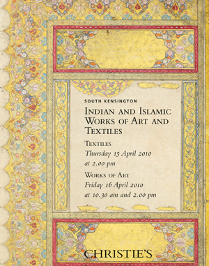 Indian and Islamic Works of Ar auction at Christies