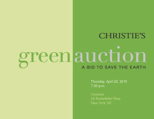 Christies Green Auction: A Bid auction at Christies