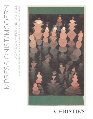 Impressionist/Modern Works on  auction at Christies