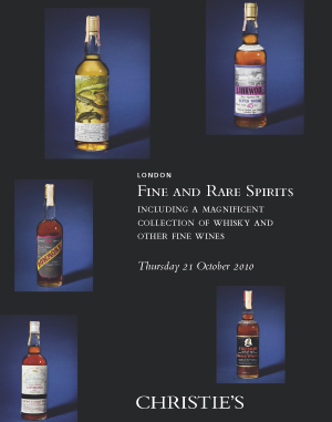 Finest and Rarest Spirits Incl auction at Christies