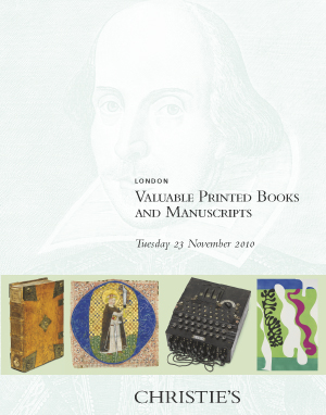 Valuable Printed Books and Man auction at Christies