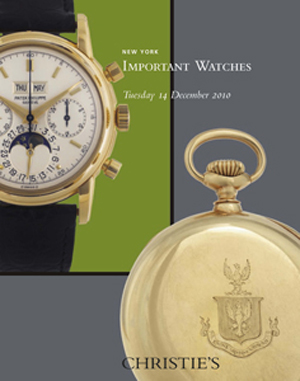 Important Watches  auction at Christies