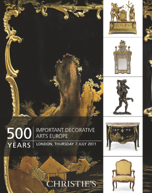 500 Years Important Decorative auction at Christies