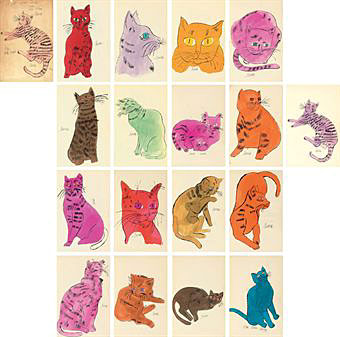25 Cats Named Sam and One Blue Pussy – Andy Warhol