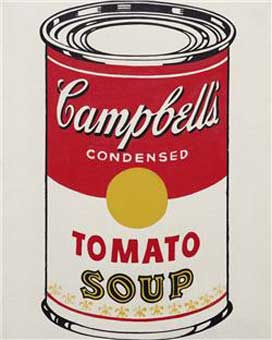 Andy Warhols Campbell's Soup Can (Tomato), 1962