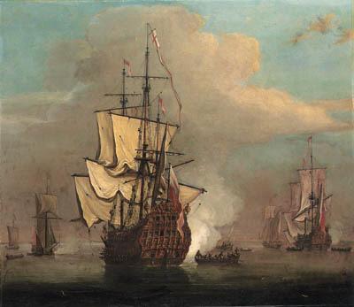 Circle of Willem van de Velde,
