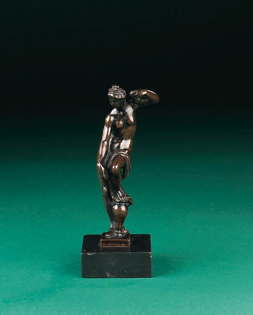 A bronze figure of Venus after