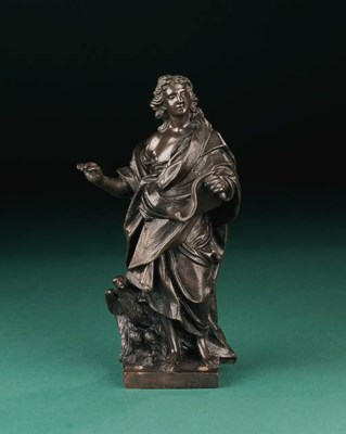 A bronze figure of St. John th