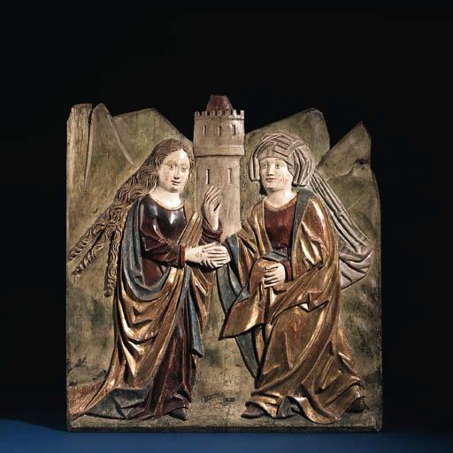A parcel-gilt polychrome carve